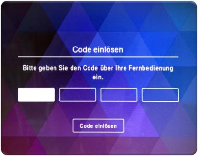 Code einlösen bei MagentaTV